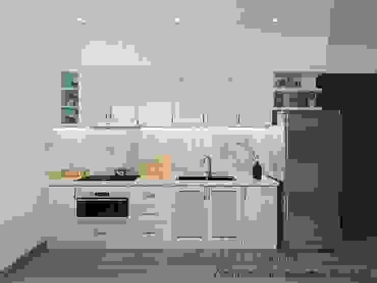 Thiết Kế Nội Thất Căn Hộ Sunrise Riverside 2 Phòng Ngủ Nhà bếp phong cách hiện đại bởi Deco Việt Hiện đại