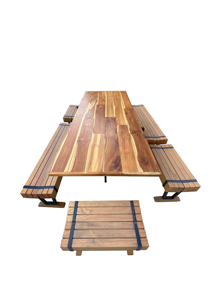 Banca RaL. Saavedra Arquitectos Dining roomTables Wood Wood effect