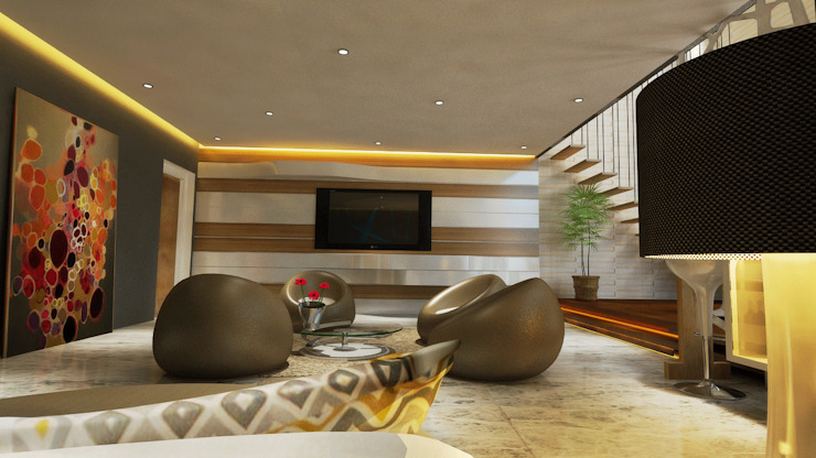 Living Area Modern living room by HC Designs Modern Plywood