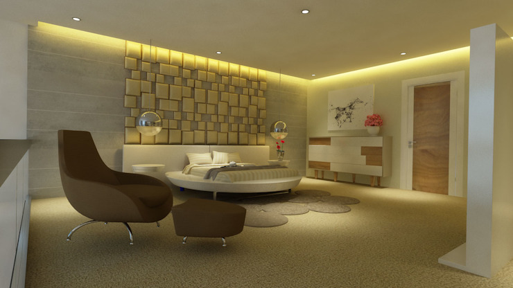 Master Bedroom by HC Designs Modern Plywood