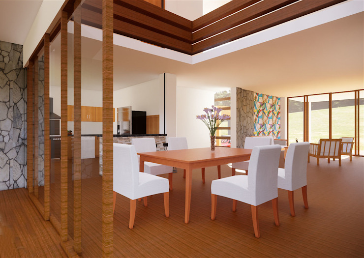 ROQA.7 ARQUITECTURA Y PAISAJE Rustic style dining room