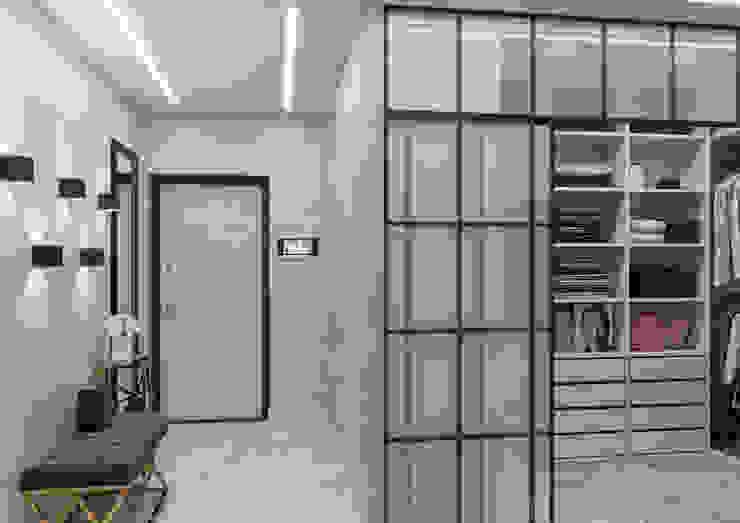 Прихожая Бюро-22 Гардеробная в стиле минимализм Мрамор Серый