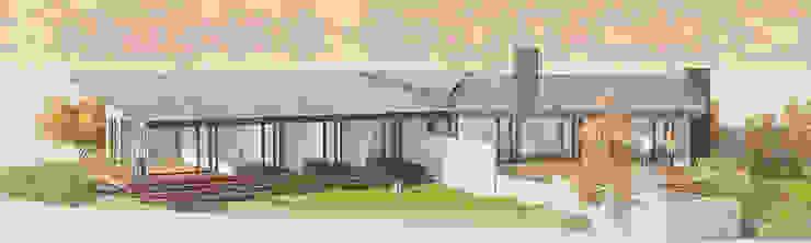 Vista general del proyecto de LiberonArquitectura Minimalista Madera Acabado en madera