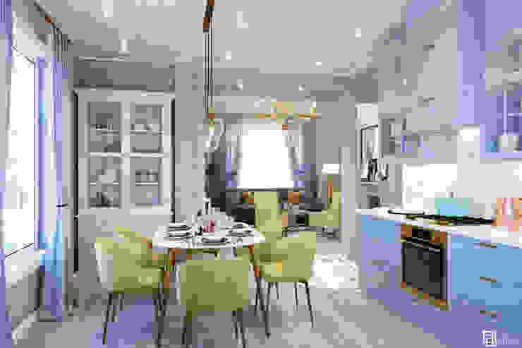 ДОМ ИЗ БРУСА 118,7 М² AREA² Interior Design Кухня в классическом стиле