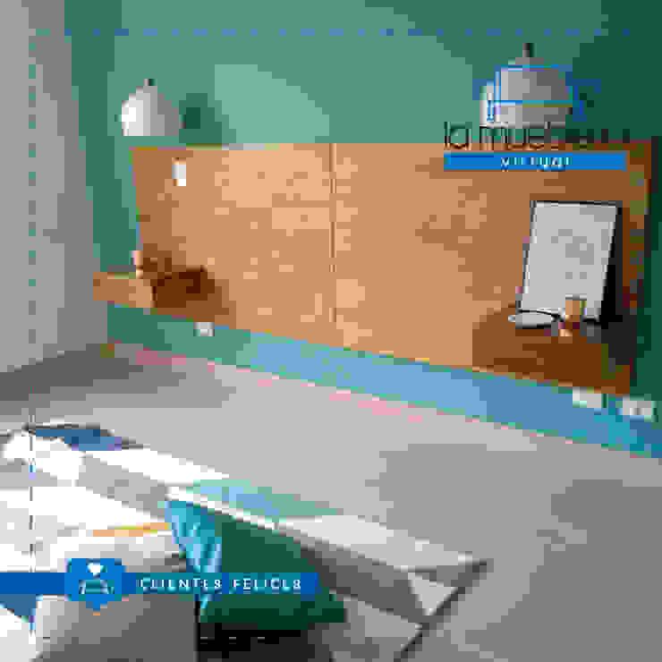 Proyecto Comedor + Mueble TV + Espaldar Cama La Muebleria Virtual / Para CasaDeTres de La Muebleria Virtual Moderno