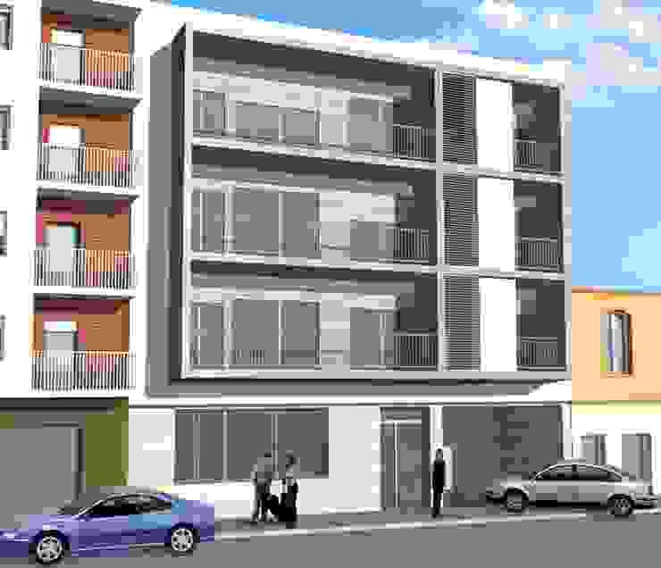 Proyectación edificio Joaquim Costa, Terrassa-Catalunya-España Casas modernas de MONAGHAN DESIGN SAS Moderno