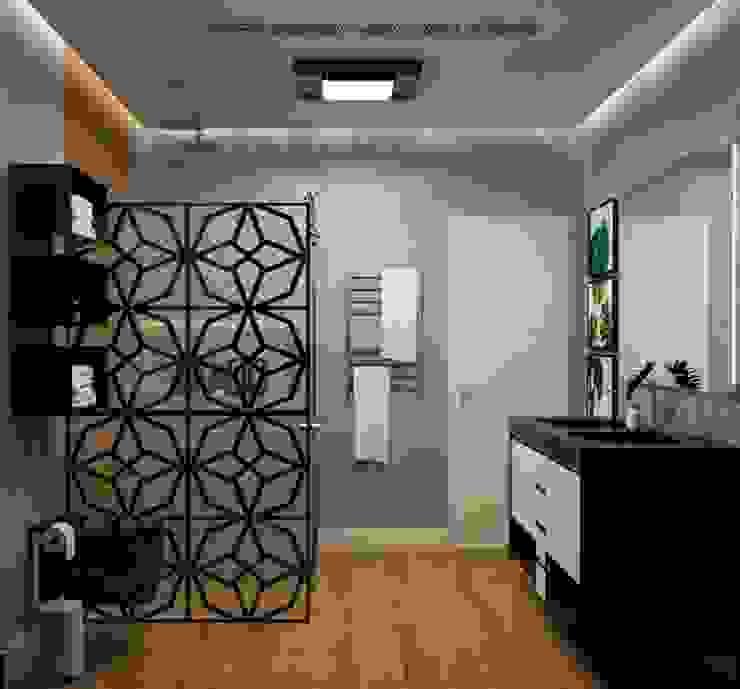 Banheiro Suíte Roberta Sammarone - Arquitetura & Interiores Banheiros modernos