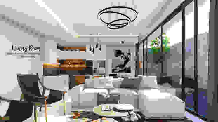 Living Room:modern  oleh Nyiku Interior, Modern Kayu Lapis