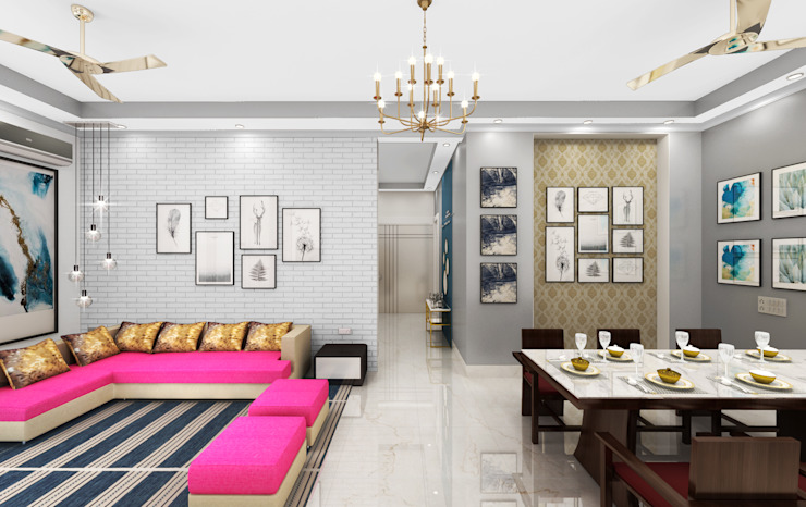 Splendid Living area by Designers Gang