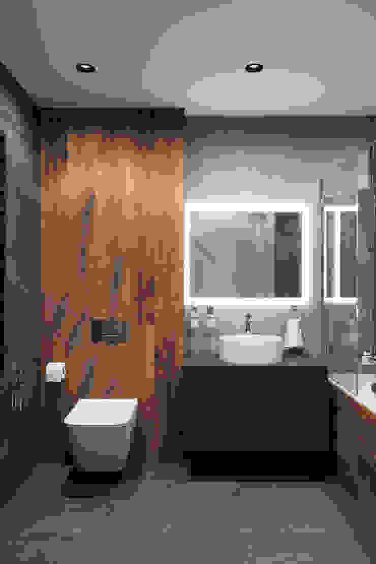 Студия архитектуры и дизайна Дарьи Ельниковой Minimalist style bathrooms