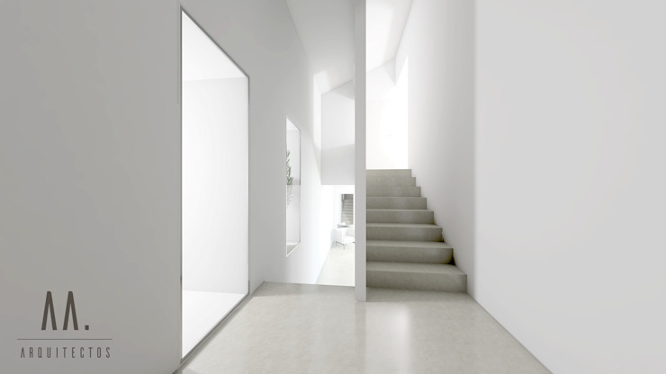 Hall entrada por AA.Arquitectos