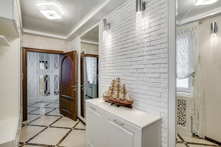 Eclectic style corridor, hallway & stairs by АрДиПроект Eclectic