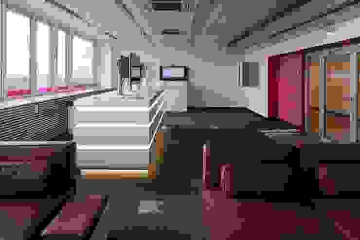MAGENTA Moderne Bürogebäude von _WERKSTATT FÜR UNBESCHAFFBARES - Innenarchitektur aus Berlin Modern