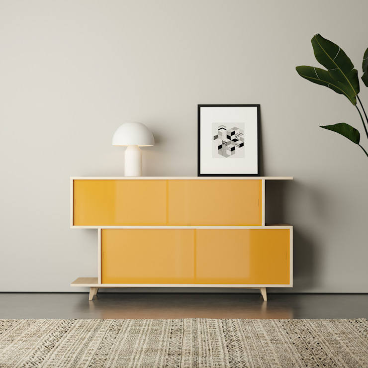 S*2 SIDEBOARD FEIT HouseholdAccessories & decoration Than củi
