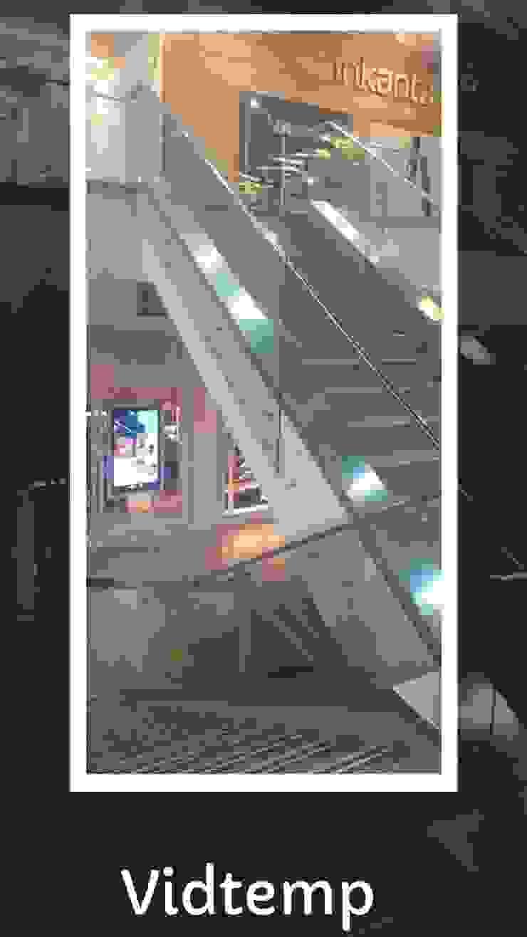 pasa manos en acero y vidrio centro comercial de VIDTEMP Moderno Vidrio