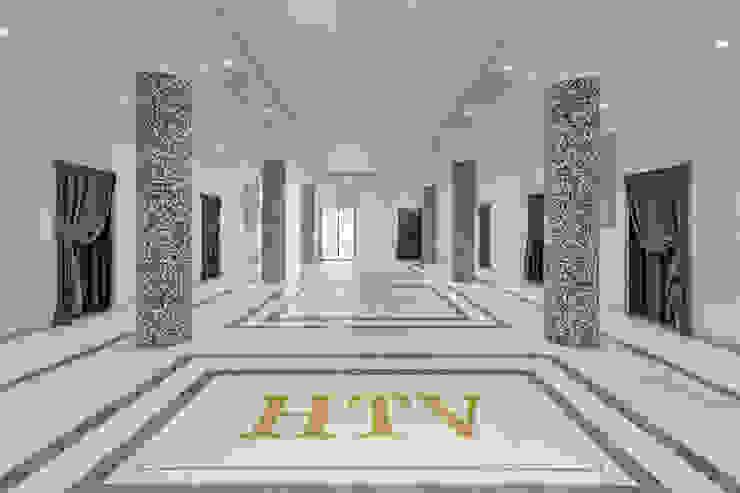 Ingresso SPA Hotel moderni di Plant Studio Moderno Argento / Oro