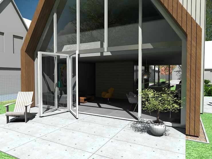 vouwpui van Studio FLORIS Modern Aluminium / Zink