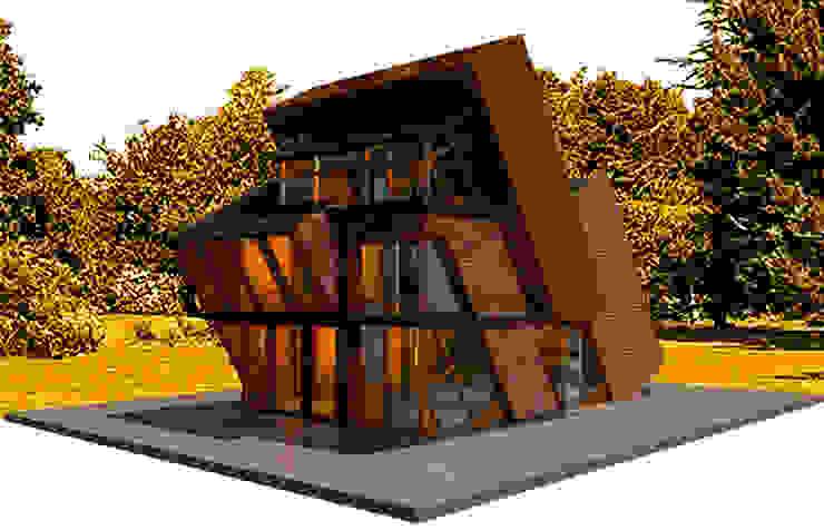 Cabaña SPITI de Icónica Arquitectos Moderno Compuestos de madera y plástico