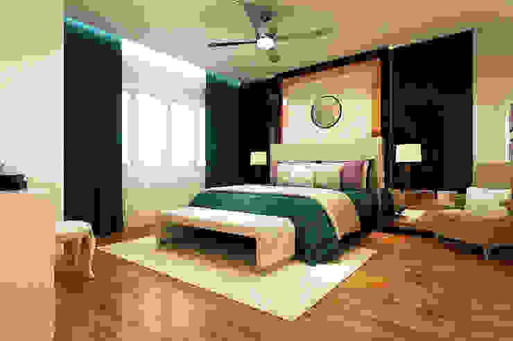 LAKEPOINT RESIDENCE, CYBERJAYA Modern style bedroom by Enviz Interior & Renovation Modern
