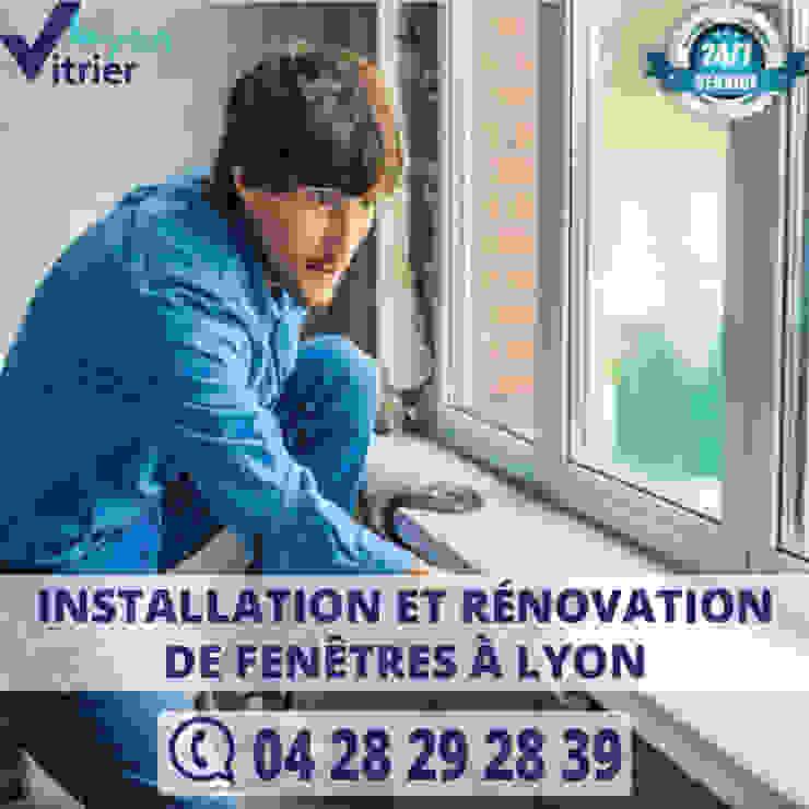 Installation et rénovation des fenêtres à Lyon vitrier-Lyon uPVC windows Glass Black
