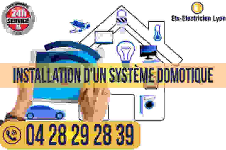 Installation d'un système domotique de Electricien Lyon 69 Moderno Vidrio