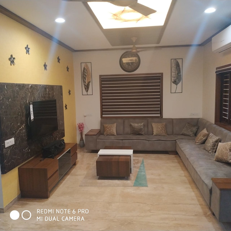 Jignesh Kumar 'A' DESIGN ASSOCIATES Modern living room