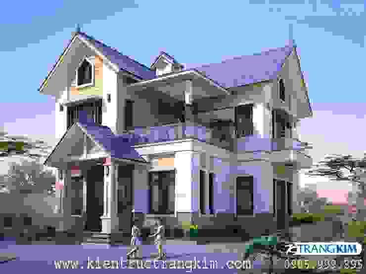 Thiết kế biệt thự 2 tầng mái thái hiện đại bởi Kiến trúc Trang Kim Hiện đại