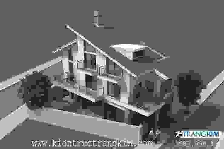 Thiết kế biệt thự hiện đại trên đất hình thang bởi Kiến trúc Trang Kim Hiện đại