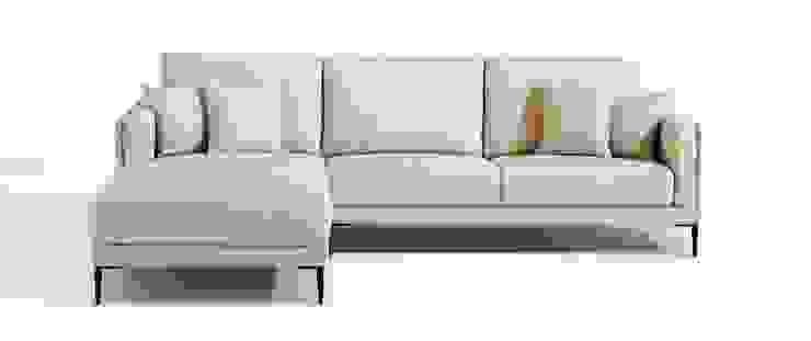 Canapé d'angle en tissu Auteuil par Imagine Outlet Moderne Textile Ambre/Or