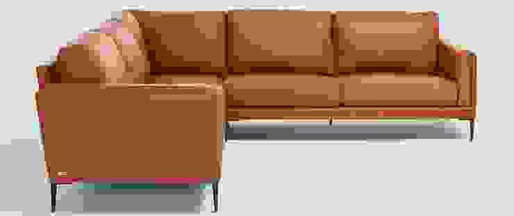 Canapé d'angle en cuir, fabrication française haut de gamme par Imagine Outlet Moderne Cuir Gris
