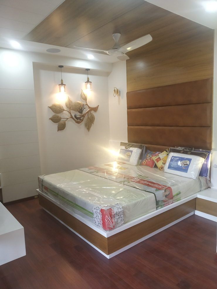 Krishbhai's Completed Project 'A' DESIGN ASSOCIATES Modern style bedroom