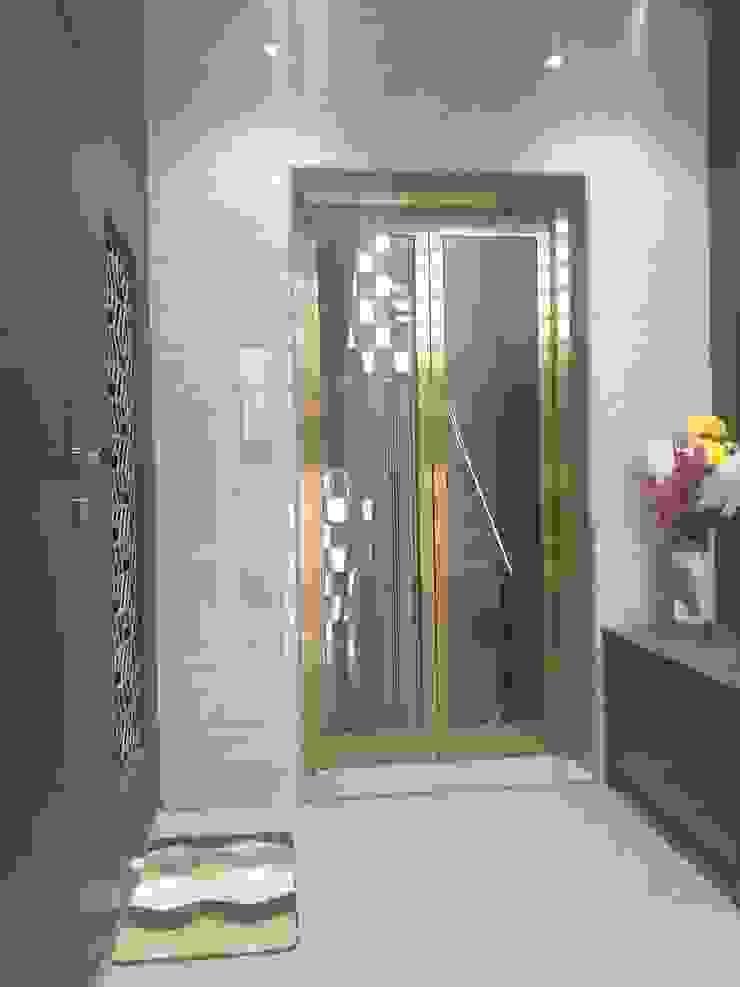 Krishbhai's Completed Project 'A' DESIGN ASSOCIATES Modern corridor, hallway & stairs