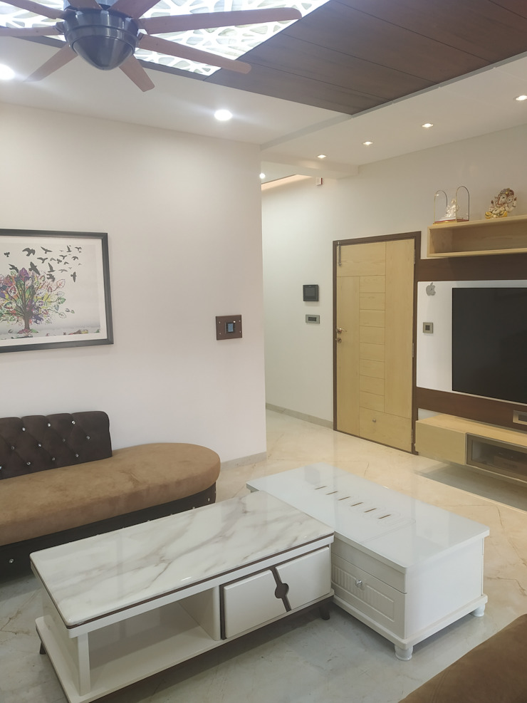 Krishbhai's Completed Project 'A' DESIGN ASSOCIATES Modern living room