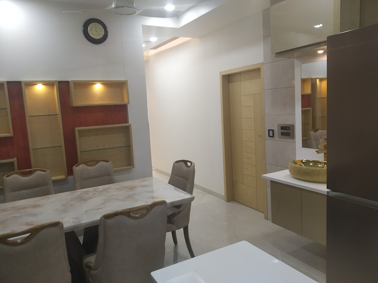 Krishbhai's Completed Project 'A' DESIGN ASSOCIATES Modern dining room