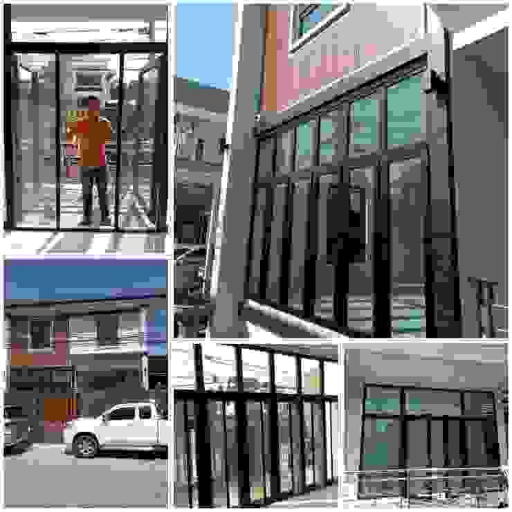 ร้าน ชัยดล ยูพีวีซี พัทยา ประตู - หน้าต่าง upvc Puertas y ventanasPuertas Plástico Negro