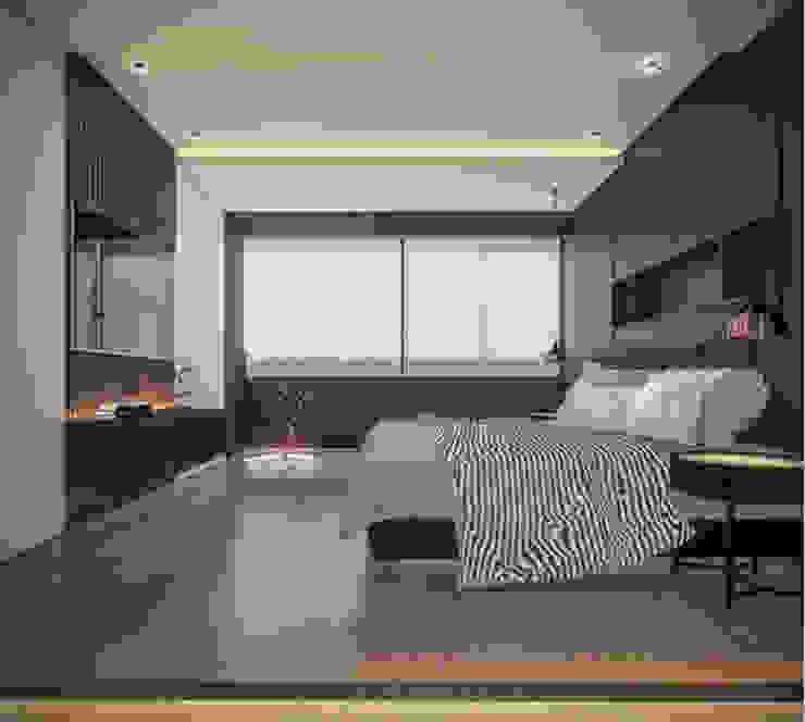 Departamento CASLO T-Estudio Arquitectos Dormitorios minimalistas Madera Negro
