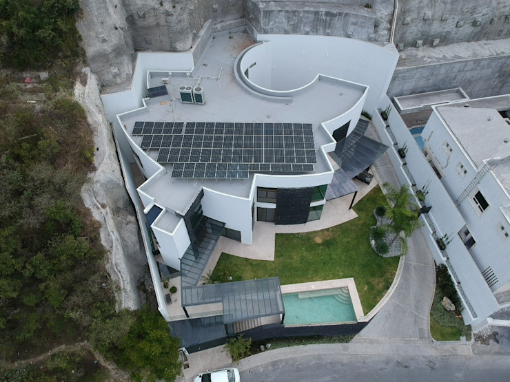 Vista panorámica del Proyecto KB Solar Galerías Aluminio/Cinc Azul