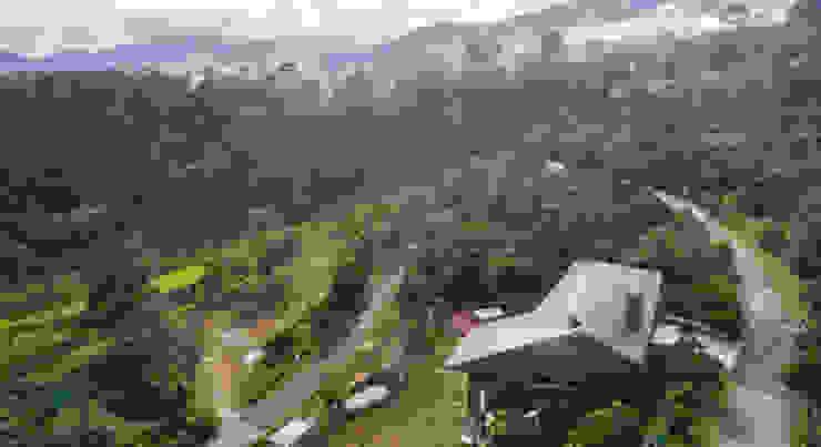 Birds eye view of the Jandabaik House by MJ Kanny Architect Tropical