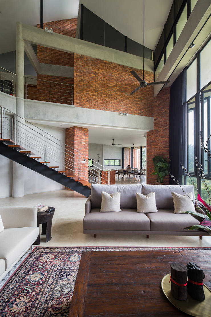 Living Room MJ Kanny Architect Tropical style living room