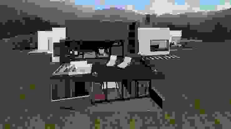 Frente casa Casas modernas de GEOARKITECTURA S.A.S. Moderno