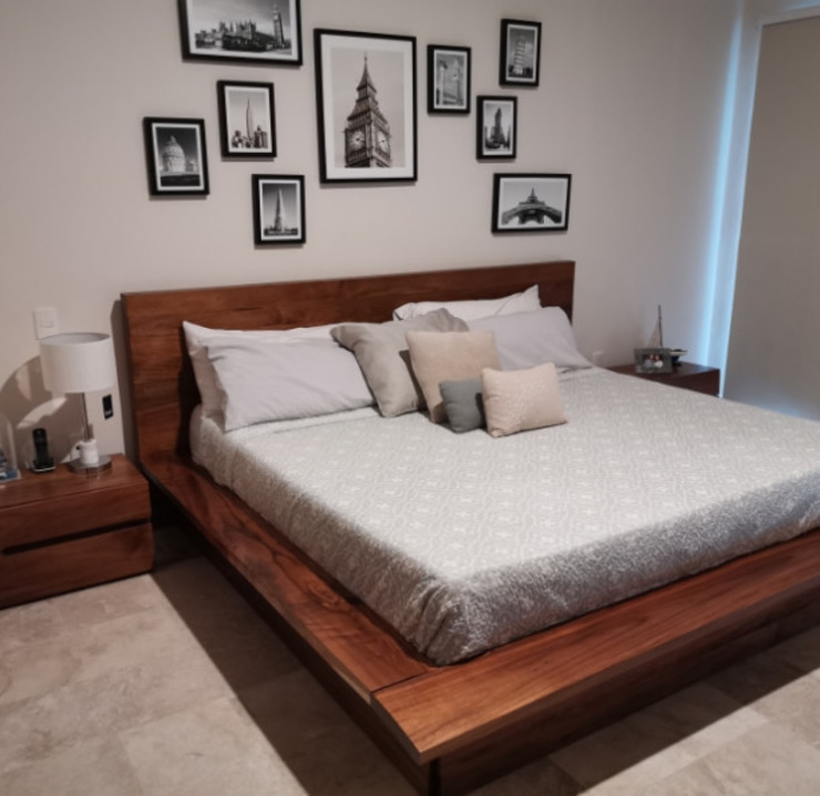 Daniel Cota Arquitectura   Despacho de arquitectos   Cancún BedroomBeds & headboards