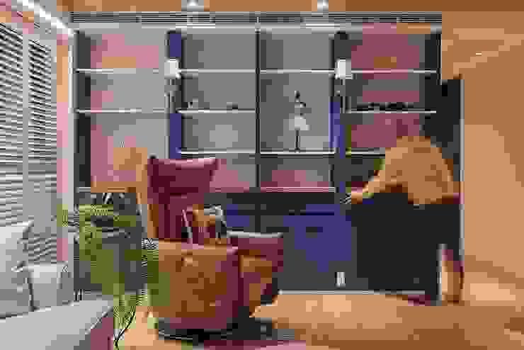 隱藏式辦公桌 根據 趙玲室內設計 鄉村風