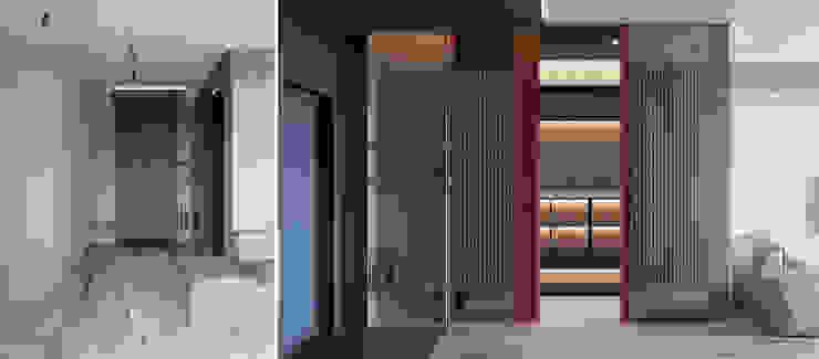 he.d group Minimalist corridor, hallway & stairs