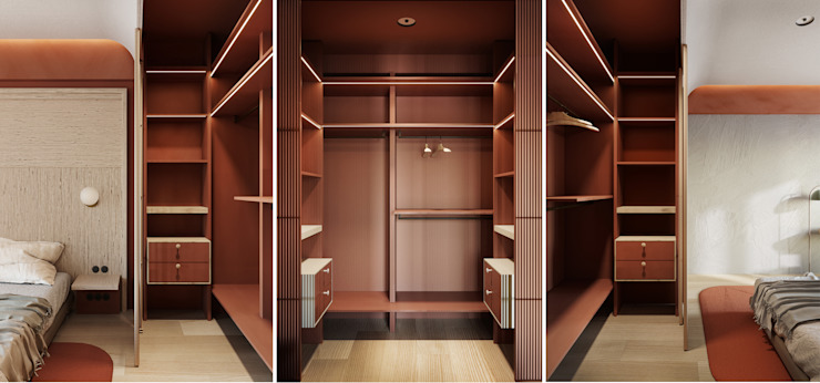 Minimalist dressing room by he.d group Minimalist