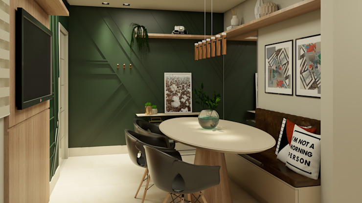 AJP ARQUITETOS ASSOCIADOS Dining roomTables Synthetic Green