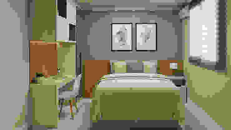 AJP ARQUITETOS ASSOCIADOS BedroomBeds & headboards MDF Wood effect