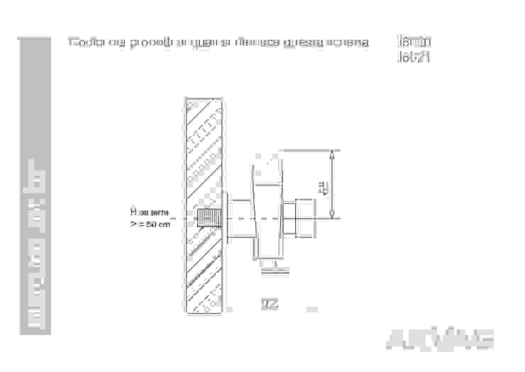 ARVAG SRL Baños de estilo minimalista Metal Metálico/Plateado