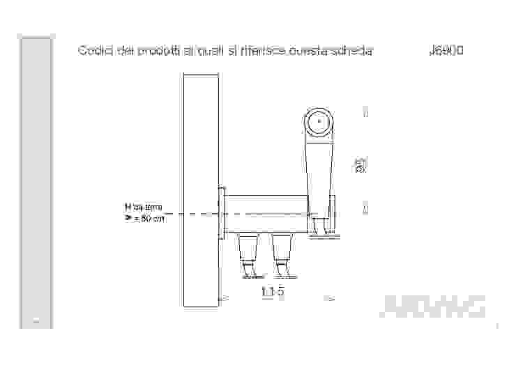 ARVAG SRL Baños de estilo moderno Metal Metálico/Plateado