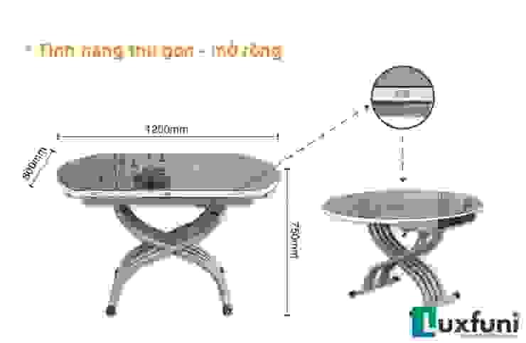 Bàn tròn mặt kính: Châu Á  by Công ty CP XD và TM Newland Việt Nam, Châu Á