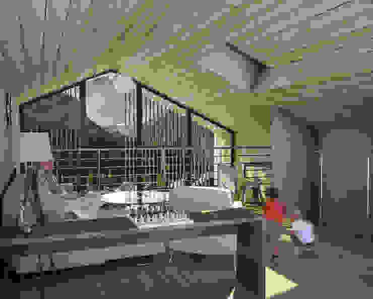 Fotoinserimento interno 3 Soggiorno rurale di 2A2F Architettura Rurale